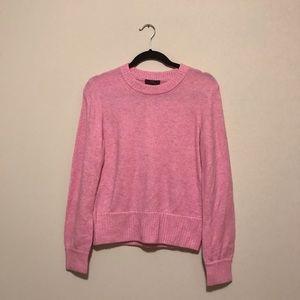 J Crew Blush pink sweater crew neck wool